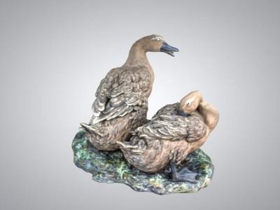 三维3D仿真展示-鸭子雕塑